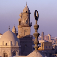 A view over the rooftops in Cairo, Egypt.