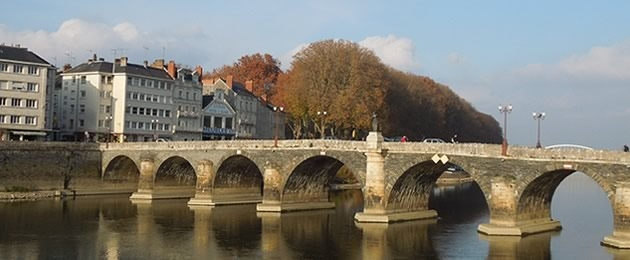 Looking across the Maine River in Angers, in France's Loire River Valley.